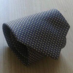 Ralph Lauren Blue & Gray Silk Tie
